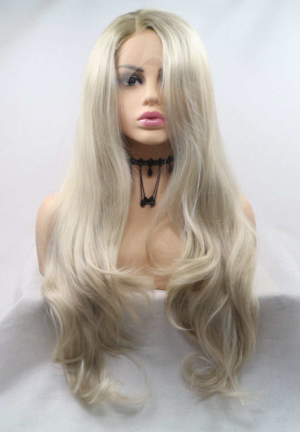 Elodie Blonde Wavy Lace Front Wig USW133