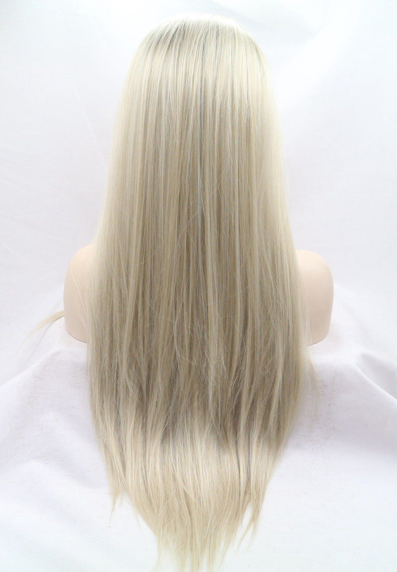 Elodie Blonde Straight Lace Front Wig USW033