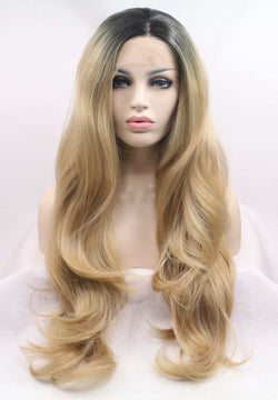 Black Widow Synthetic Blonde Wavy Lace Front Wig USW020