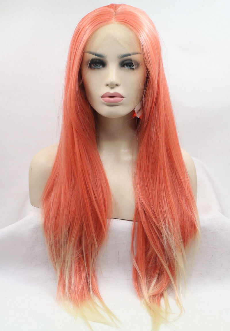 Light Orange Ombre Silky Straight Wig  USW108