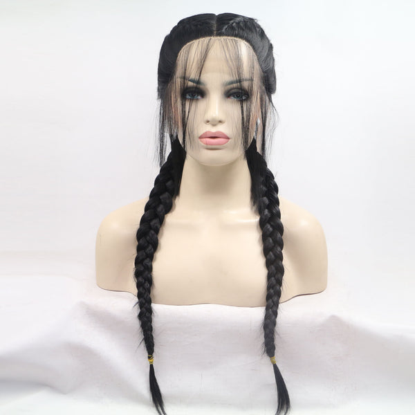 Black Double Braid Add Weaving USW017
