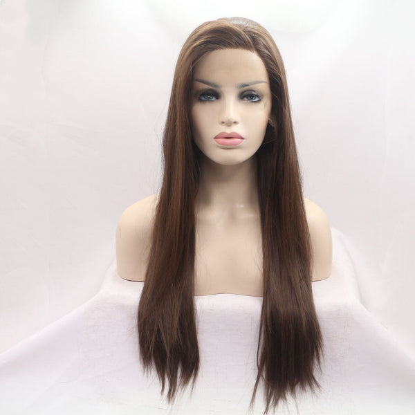Themis Brown Synthetic Wig Side Parting USW088