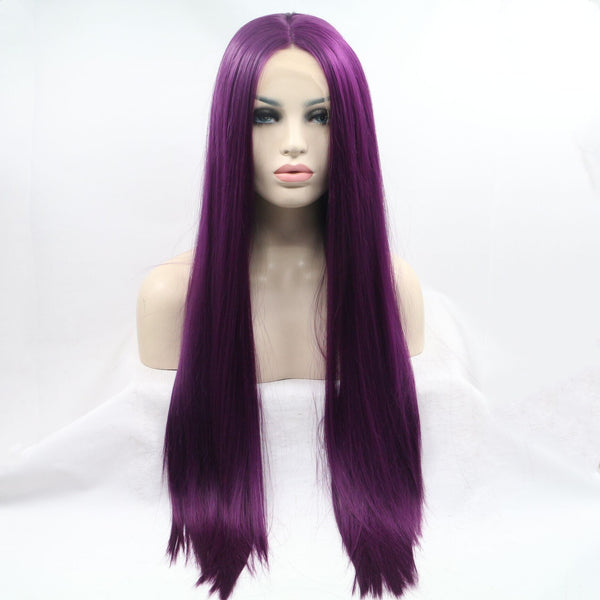 Quella Purple Straight Wig USW075