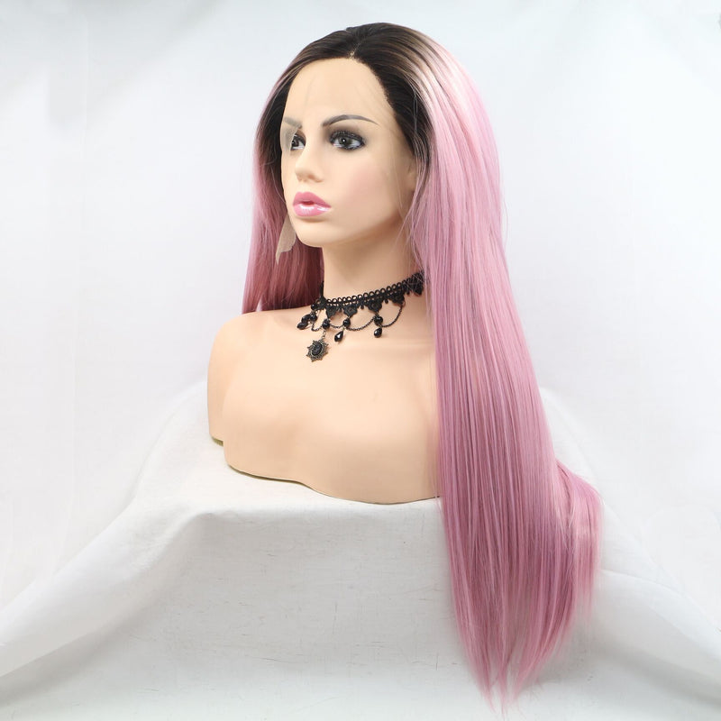 Pepper Pink Straight Wig Cosplay USW071
