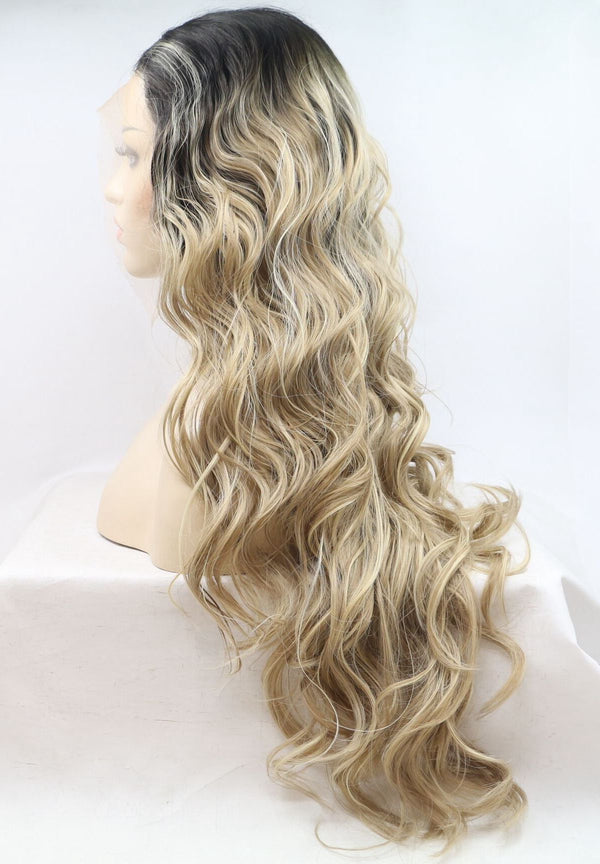 Cinderella Blonde Curly Synthetic Wig USW119