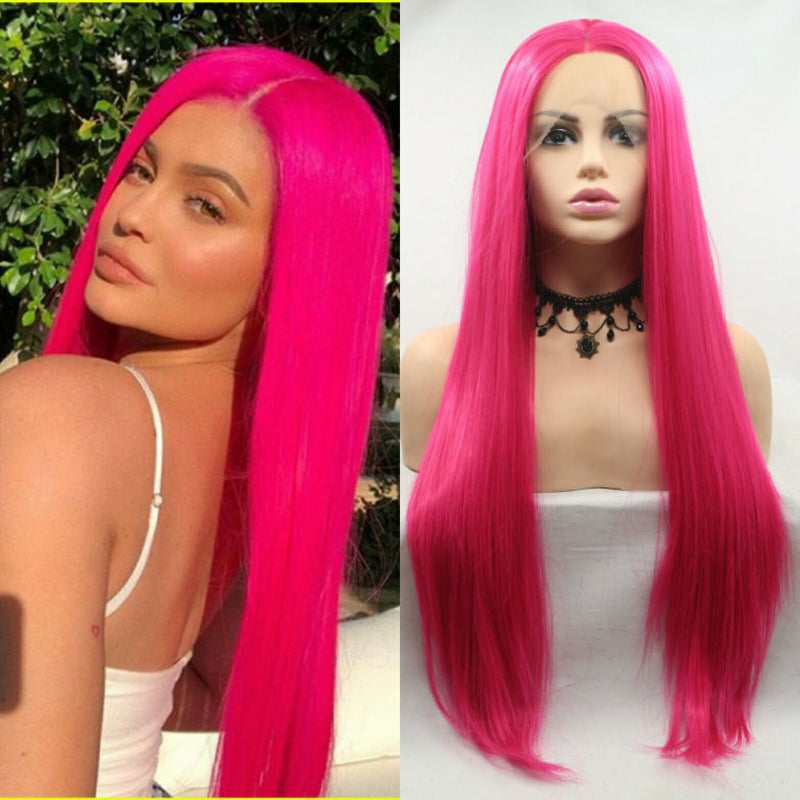 Kylie Jenner Red Synthetic Wig USW099