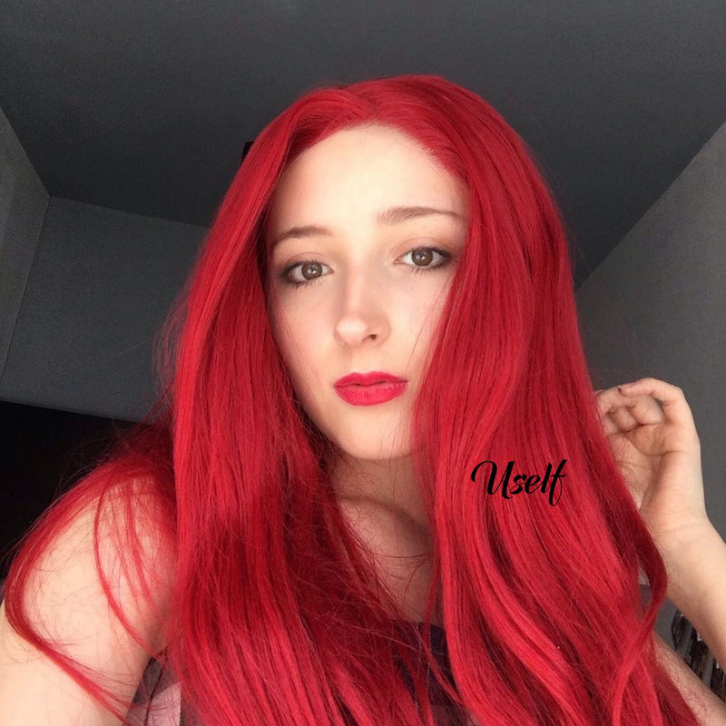 Sexy Red Cosplay Lace Front Wig USW080