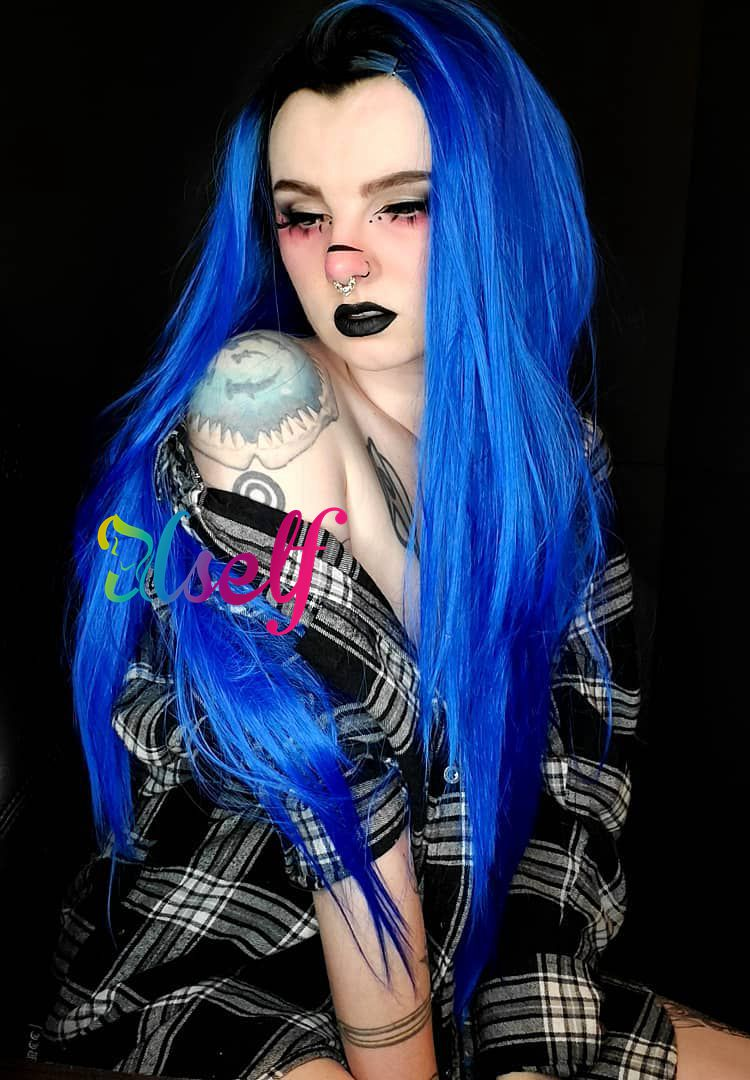Jinx Cosplay Blue Straight Kanekalon Wig USW120