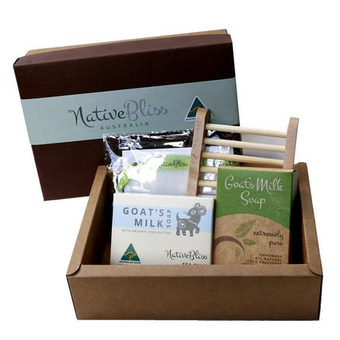 Native Bliss -Gift Pack Sea Salt Shea Butter Essentials Soap Gift Pack - Eyes On Family Australia
