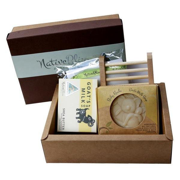 Native Bliss - 特濃羊奶皂禮盒Gift Pack Shea Butter Essentials Soap Gift Pack - Eyes On Family Australia
