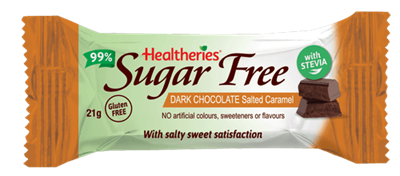 Healtheries 99% Sugar Free Dark Chocolate Salted Caramel - Eyes On Family Australia