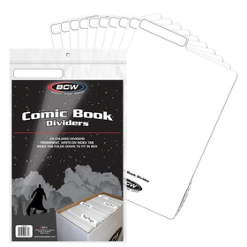 Comic Book Dividers White