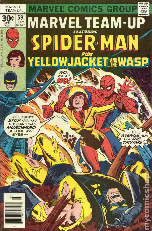 Marvel Team-up #59 Spider-Man plus Yellow Jacket and The Wasp - State of Comics