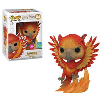 POP Movies Harry Potter Fawkes Flocked Funko POP