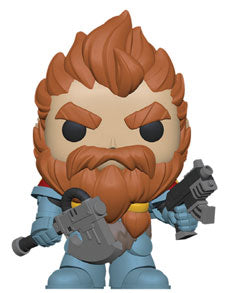 POP Games Warhammer 40k Space Wolves Pack Leader Funko POP damaged 9/10 - State of Comics