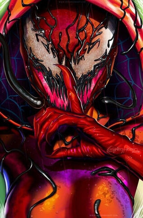 Spider-Verse #1 Greg Horn Carnage-ized Exclusive Virgin