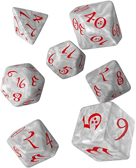 Classic RPG Dice Set Pearl/Red - State of Comics