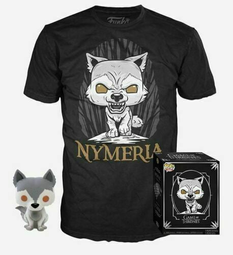 POP! Game of Thrones Nymeria Funko Pop with Lrg T Shirt - State of Comics