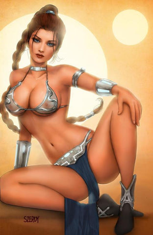 Persuasion #1 Szerdy Leia Cosplay Retailer Exclusive Sheer Virgin Chrome Cover
