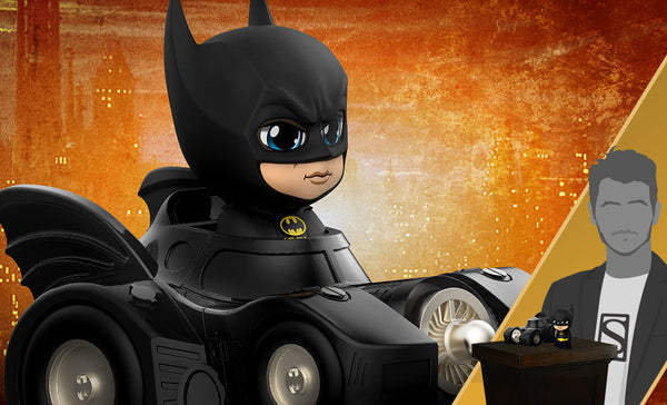 Cosbaby Batman with Batmobile - State of Comics