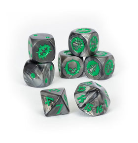 Blood Bowl Black Orc Team Dice Set