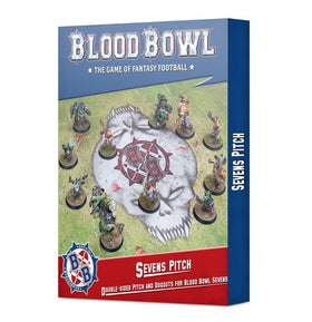 Blood Bowl Sevens Pitch Double-sided Pitch and Dugouts for Blood Bowl Sevens