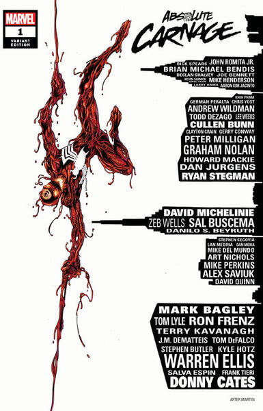 Absolute Carnage #1 Mark Bagley Skyline Exclusive Trade Dress Variant