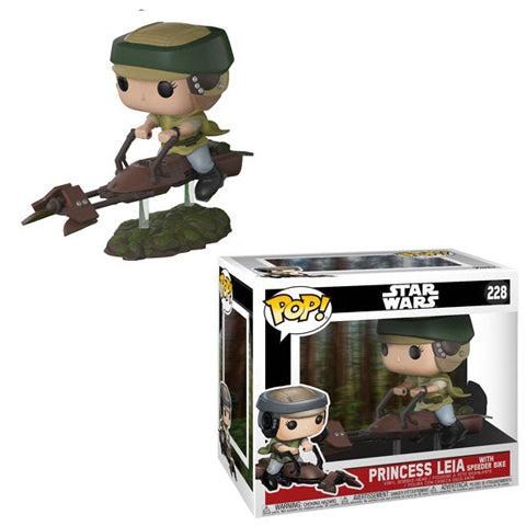 POP! Deluxe - Star Wars - Princess Leia with Speeder Bike (Damaged 9/10)