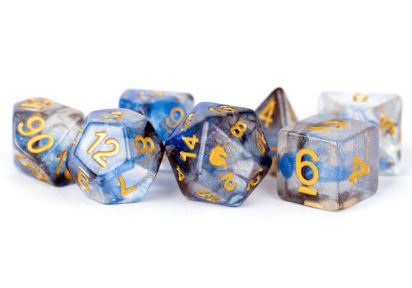 Unicorn Resin 16mm Polyhedral Dice Set: Arctic Storm (7) - State of Comics