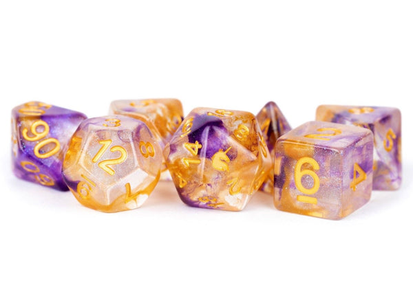 Unicorn Resin 16mm Polyhedral Dice Set: Royal Sunset (7) - State of Comics