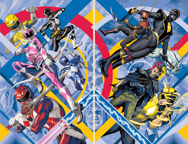 Power Rangers #1 Mighty Morphin #1 Steve Morris Exclusive Connecting Cover Set - State of Comics