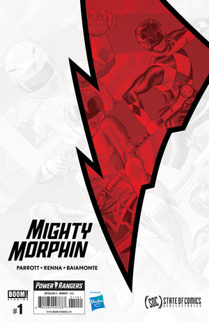 Mighty Morphin #1 Steve Morris Exclusive Connecting Cover