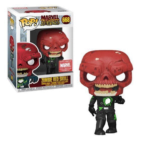 FUNKO POP Zombie RED SKULL #668 Collector's Corps Exclusive