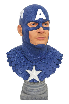 Legends in 3D Marvel Comic Captain America 1/2 Scale Bust