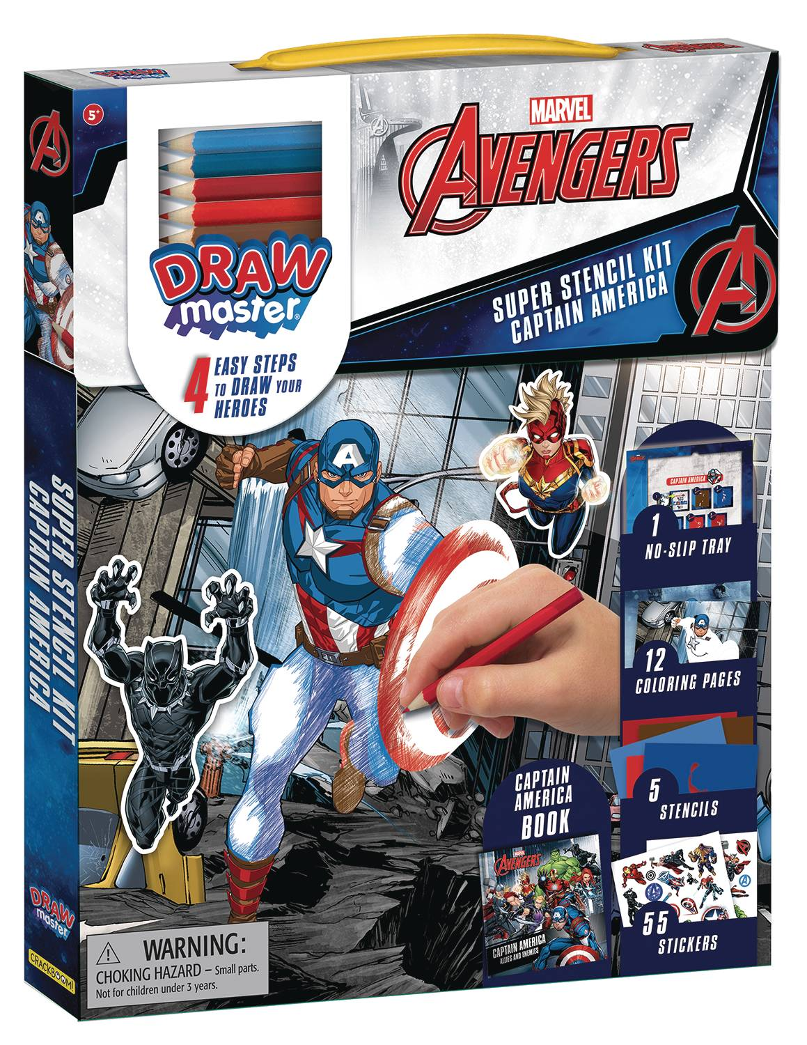 Marvel Drawmaster Captain America Stencil Kit