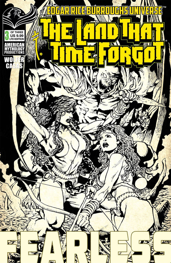 Land That Time Forgot Fearless #3 Cvr B Ltd B&W (03/24/2021) - State of Comics
