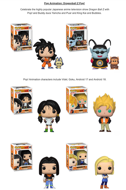 POP! Animation DBZ S5 Funko POP Bundle