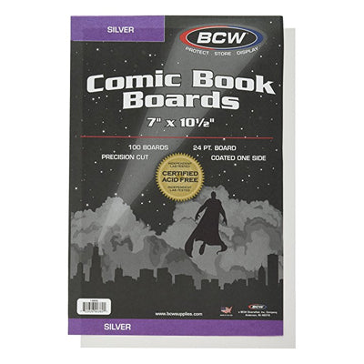 BCW Regular Silver Comic Boards