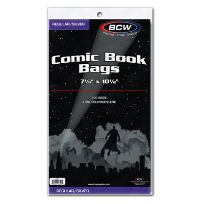 BCW Regular Silver Comic Bags