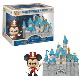 POP! Disneyland 65th Anniversary Sleeping Beauty Castle and Mickey Mouse Funko POP