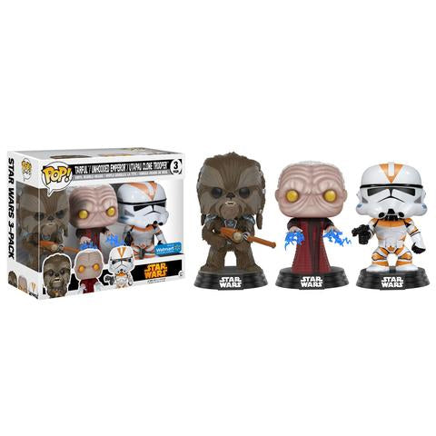 POP! - Star Wars - Tarfful, Unhooded Emperor & Utapau Clone Trooper