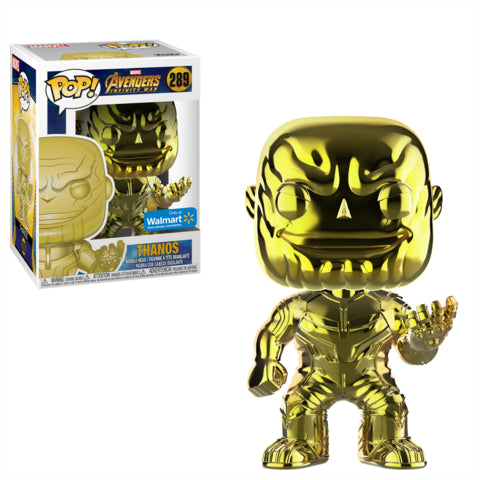 POP! Marvel Avengers Infinity War Thanos Yellow Chrome Funko POP - State of Comics