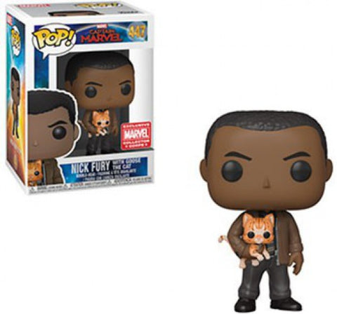 POP! Marvel Nick Fury with Goose the Cat Funko POP