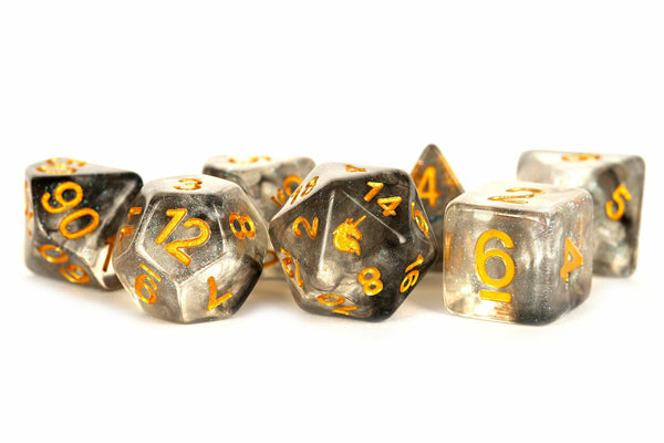 Unicorn Resin Poly Dice Set Rogue Rage (7) - State of Comics