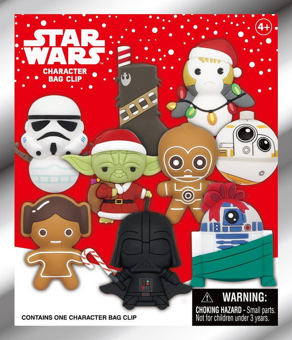 Star Wars Christmas Series 1 3D Foam Bag Clip Mystery Pack - State of Comics