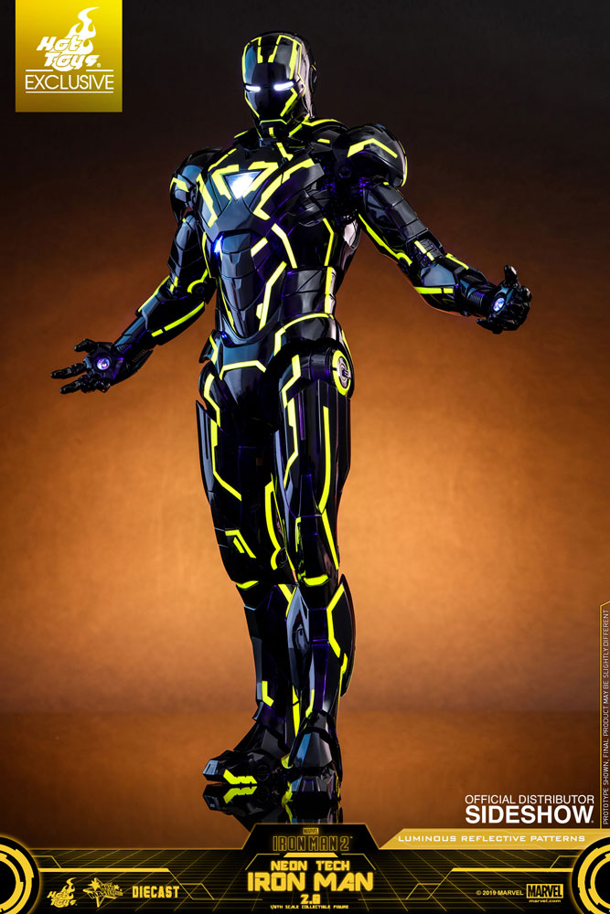 Iron Man Neon Tech 2.0 Convention Exclusive Hot Toys