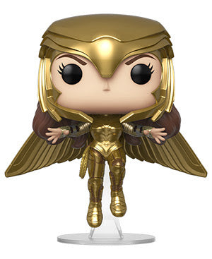 POP! DC Heroes Wonder Woman 1984 WW Gold Flying Metallic Funko POP