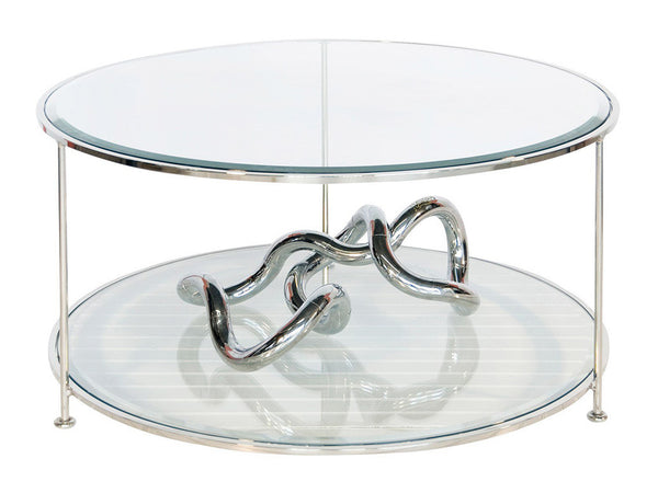 Rollo Coffee Table / Silver