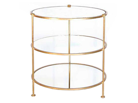 3 Tier Side Table / Gold