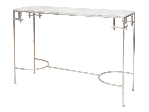 Marcy Console / Silver & White